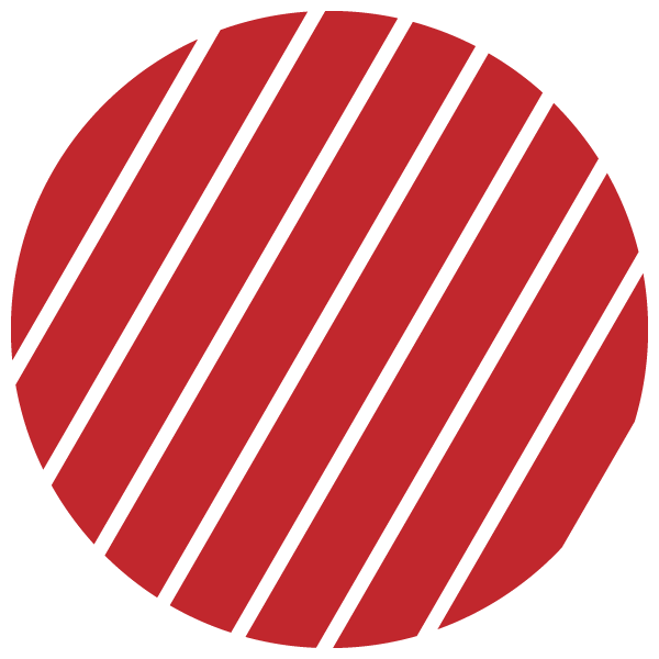 Red and transparent striped circle (Narrow gap)