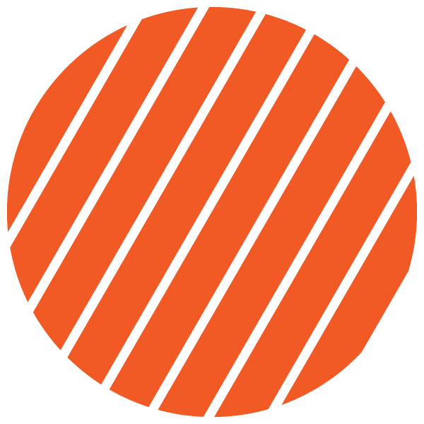 Orange and transparent striped circle (Narrow gap)