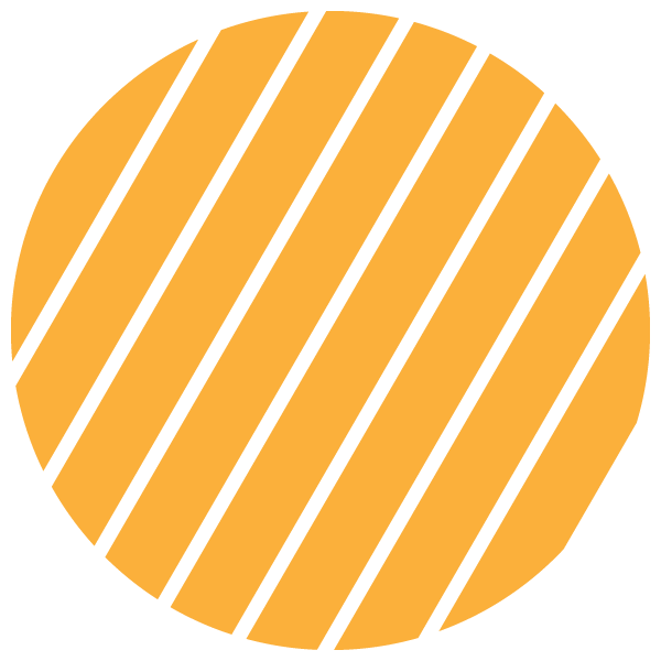 Yellow and transparent striped circle (Narrow gap)