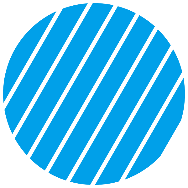 Light blue and transparent striped circle (Narrow gap)