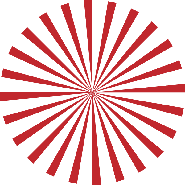 Radial stripe circle (Red and transparent)