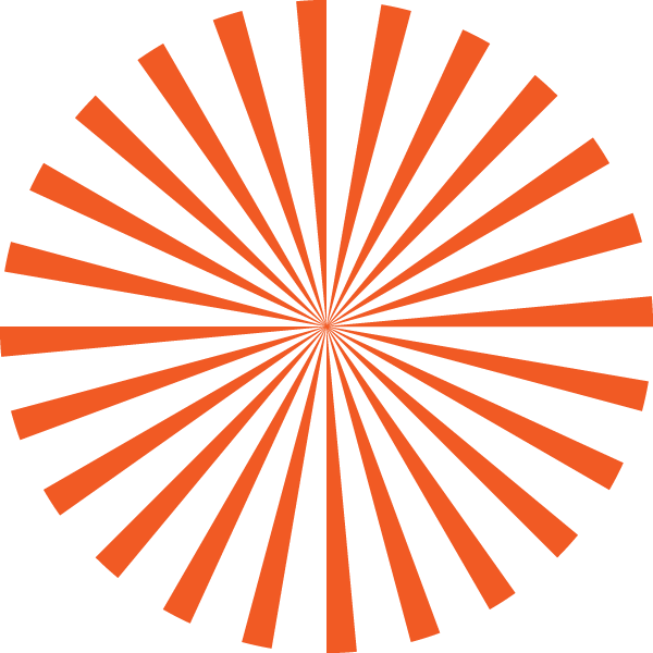 Radial stripe circle (Orange and transparent)