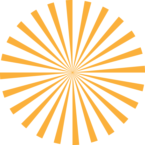 Radial stripe circle (Yellow and transparent)