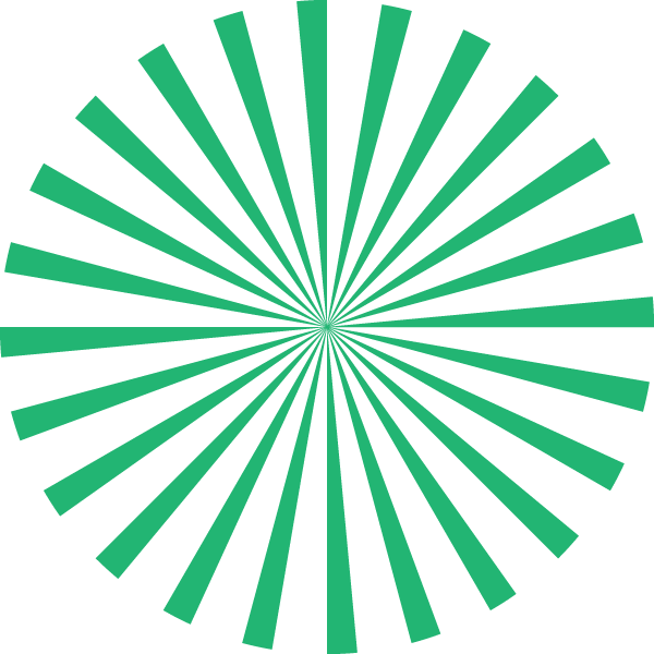 Radial stripe circle (Green and transparent)