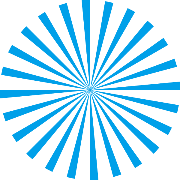 Radial stripe circle (Light blue and transparent)
