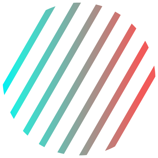 Stylish gradient color stripe circle on white