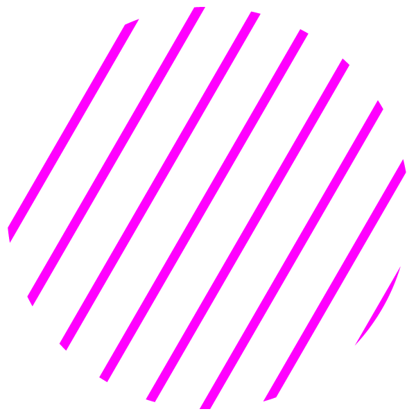 Circle with thin pink stripes on white