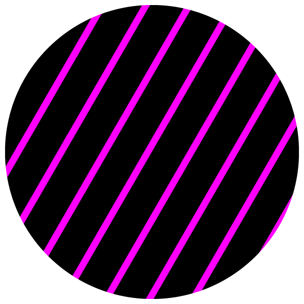 Circle of pink stripes on black