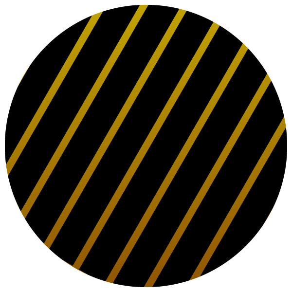 Round shape with gold and black stripes (popular)