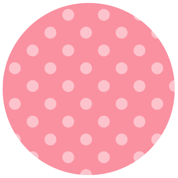round of pale pink polka dots