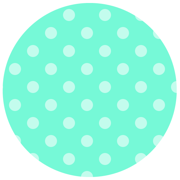 round of pastel green Polka dots
