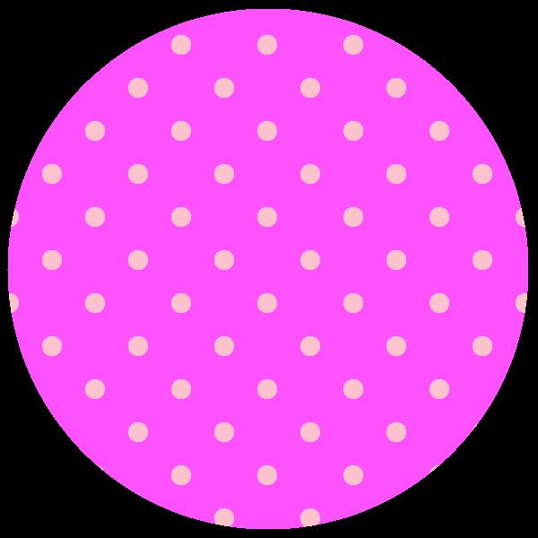 round of vivid neon pink polka dots