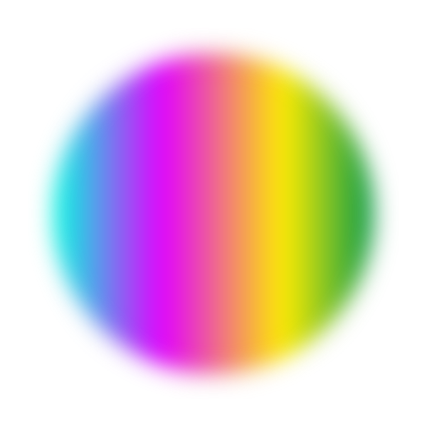 Rainbow colored circle (blur effect)
