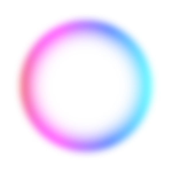 Colorful luminous circle