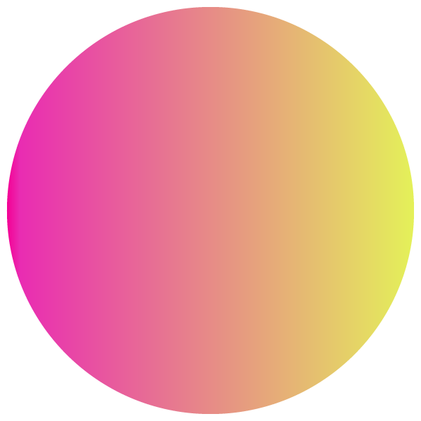 Pink and yellow gradient circle