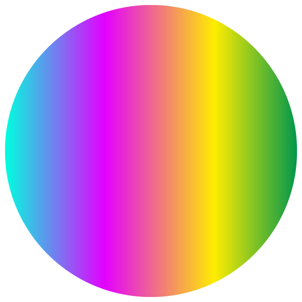 Rainbow colored circle