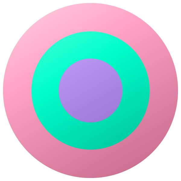 Pastel colored target circle