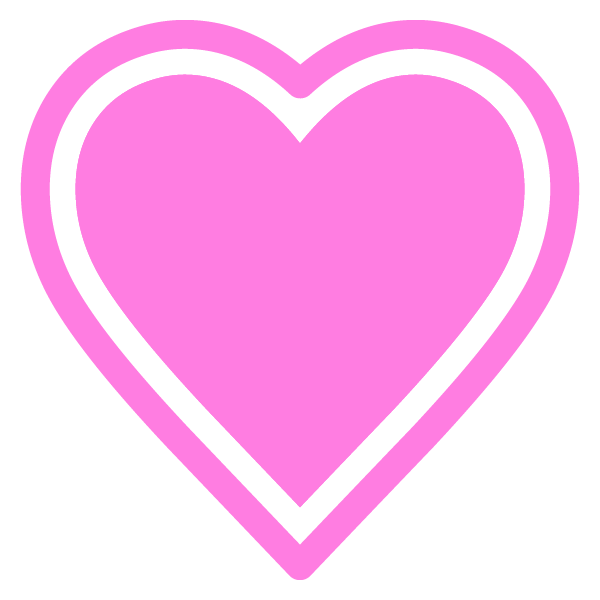 Heart with outline (pink)