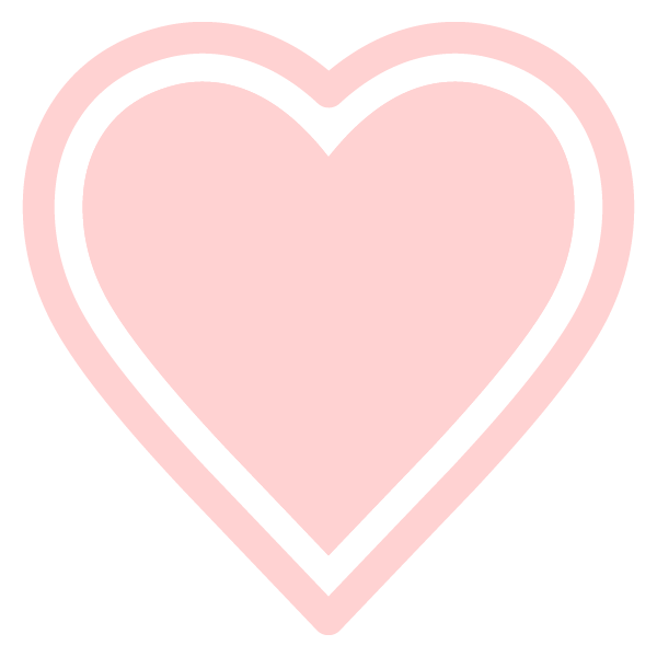 Heart with outline (Pale pink)