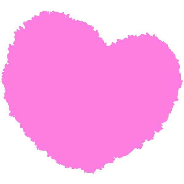 Round handwritten heart (pink)