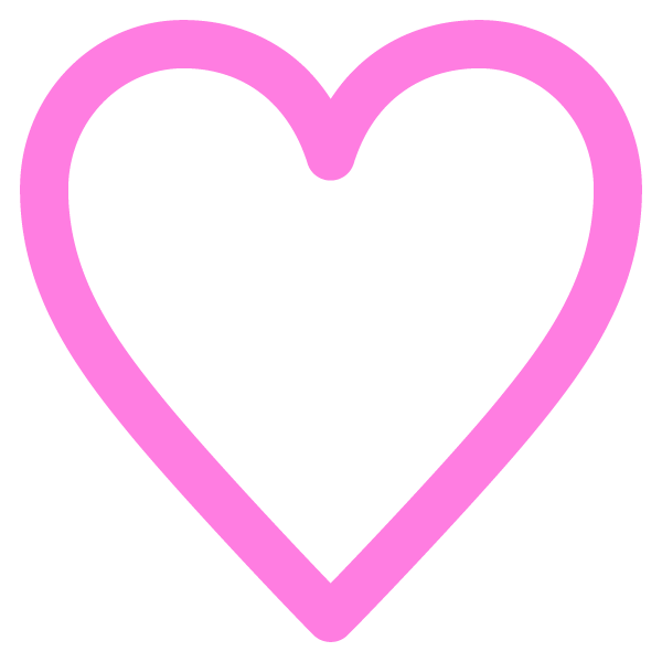 Simple line heart (pink)