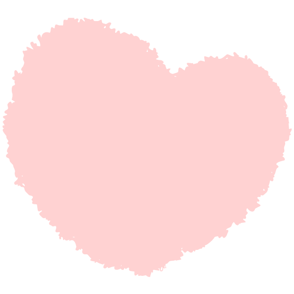 Round handwritten heart (Pale pink)