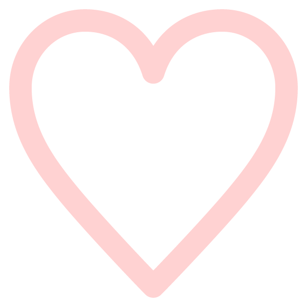 Simple line heart (Pale pink)