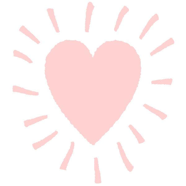 落書きアート風のハート(淡いピンク)  Graffiti art style shining heart (Pale pink)