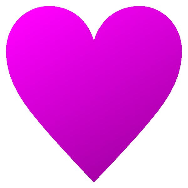 少し立体感のあるビビッドピンクのハート Embossed hot pink heart symbol