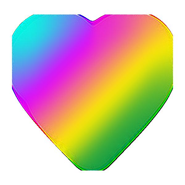 虹色のハート(ボカシ) Rainbow Heart (Blur)