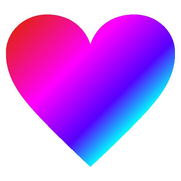 ビビッドなグラデーションのハート Vivid gradient heart