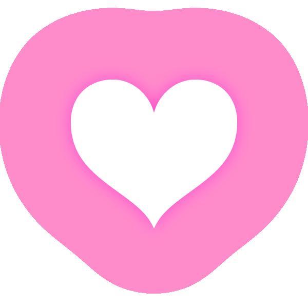 くびれのあるハート(発光ピンク) Constricted heart (neon luminous pink)