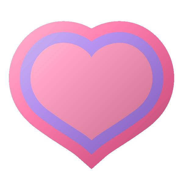 縁取りラインのあるパステルカラーのハート Pastel colored heart with a border line