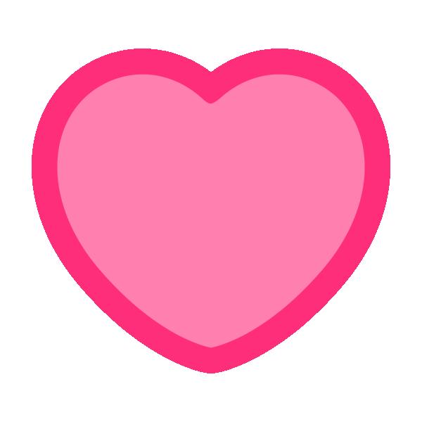 縁取りラインのあるピンクのハート Pink heart with a border line