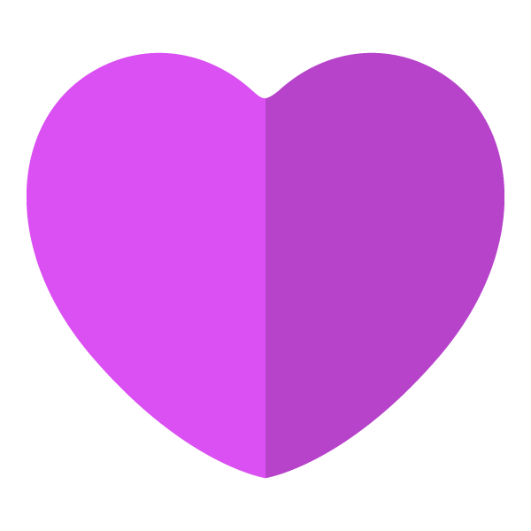 Purple flat color heart