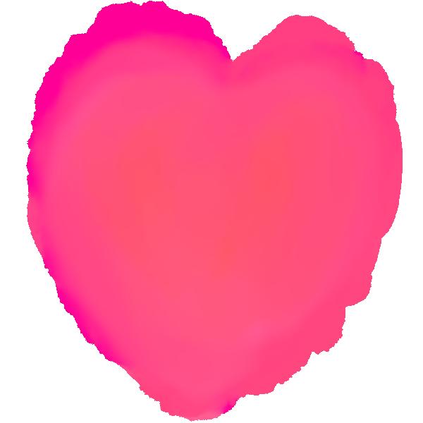 Watercolor pastel picture heart