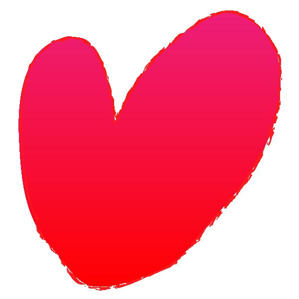 Rough hand drawn heart