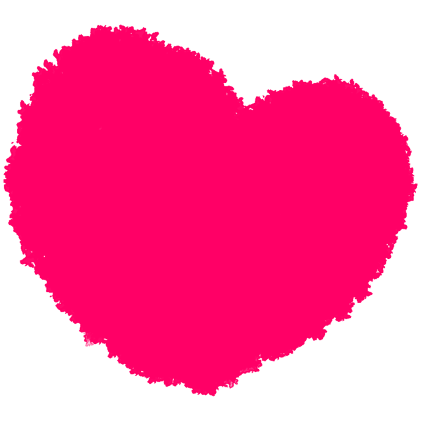 Crayon touch heart