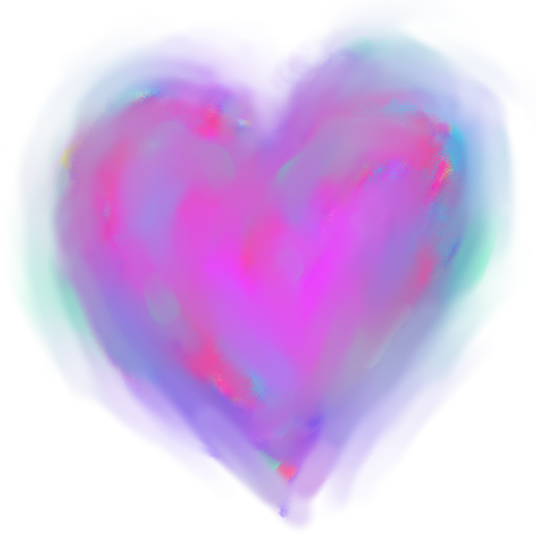 Artistic pastel painting heart