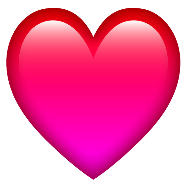 Emoji style glossy heart free images