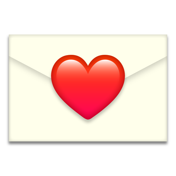 Emoji style love letter free image