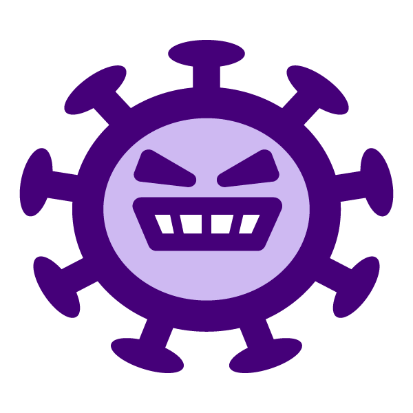 Coronavirus character illustration icon