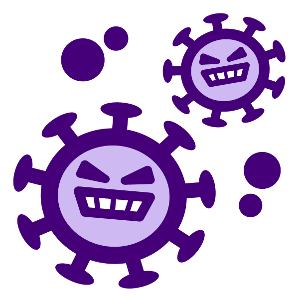 Coronavirus character illustration icon 2