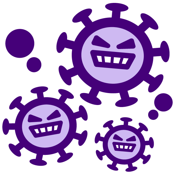Coronavirus character illustration icon 3