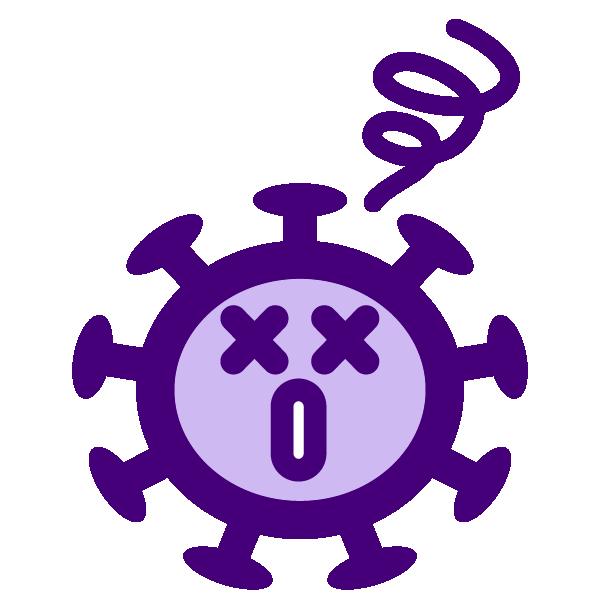 Coronavirus weakening icon