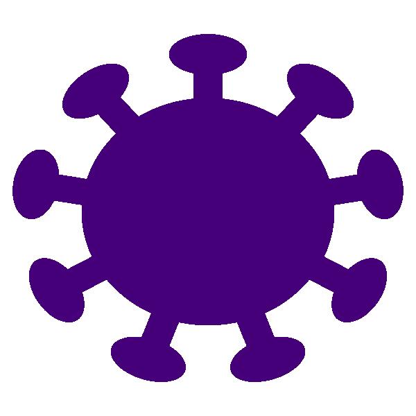 Coronavirus simple icon