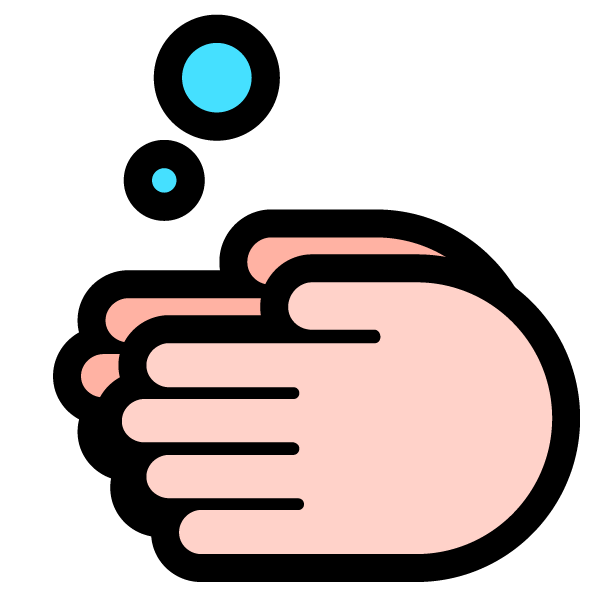 Hand washing illustration icon (hand soap)