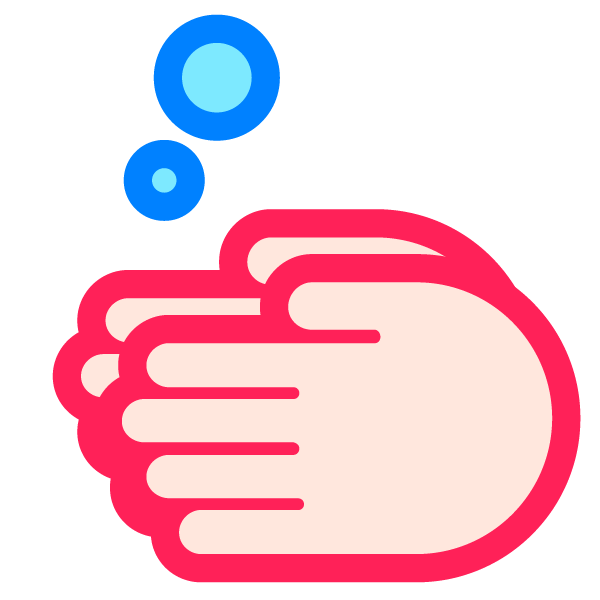 Hand washing illustration icon (poppy)