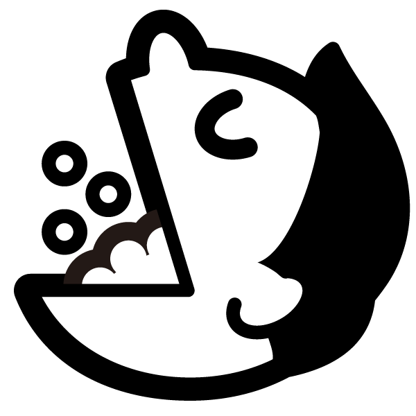 gargle illustration icon (Monochrome)