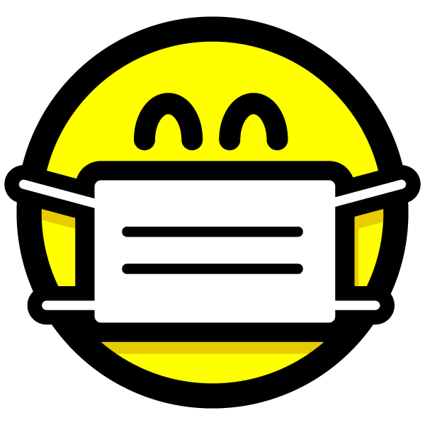 surgical-style face mask icon (Smiley)